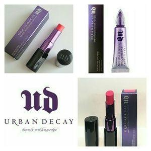 Urban Decay NIB Matte Lipsticks and Eye Primer